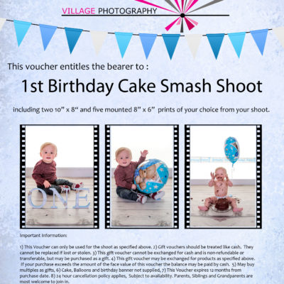 1st birthday cake smash boy gift voucher, Hebburn, Newcastle. Village Photography