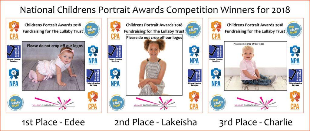 Children's Portrait Awards, Village Photography Newcastle